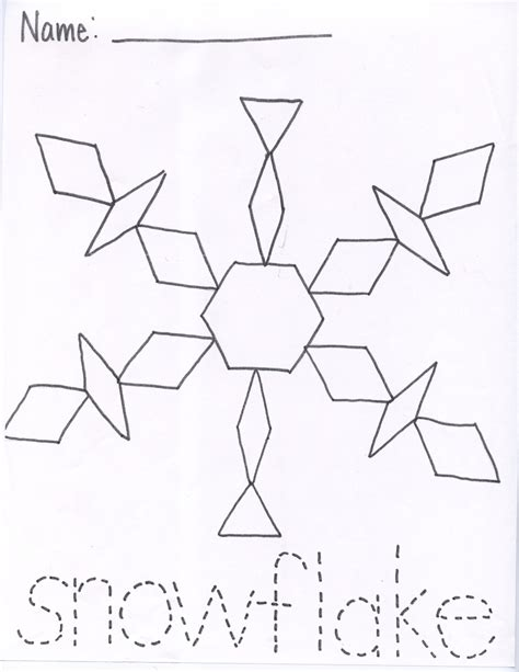templates for pattern blocks kindergarten best photos of preschool snowflake pattern large