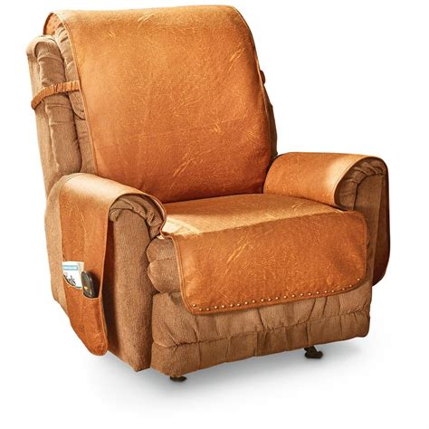 leather recliner slipcover faux leather recliner cover 666210 furniture covers at