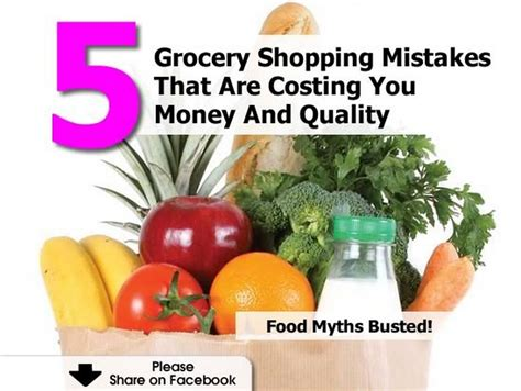 Grocery Shopping Mistakes by 5 Grocery Shopping Mistakes That Are Costing You Money And