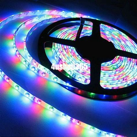 Multi Color 1m Rgb 3528 Smd Waterproof 60 Led Light Strip Led Lights Multi Color