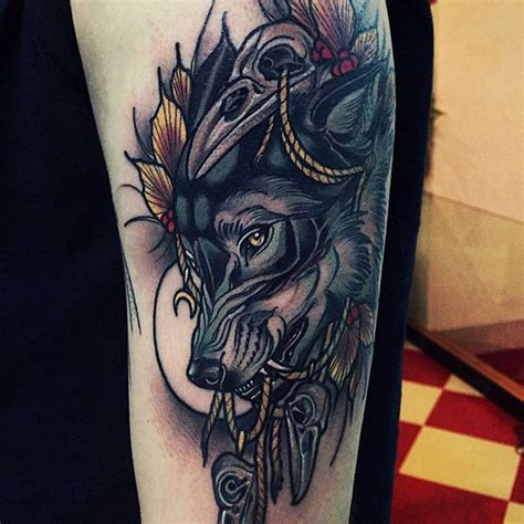 neo traditional wolf tattoo wolf tattoos for ideas and inspiration for guys
