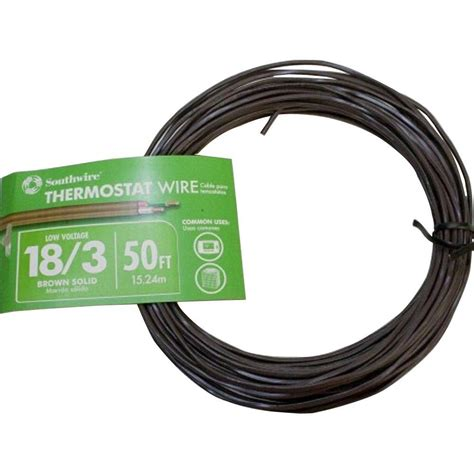 southwire 50 ft 18 3 brown solid cu thermostat cable