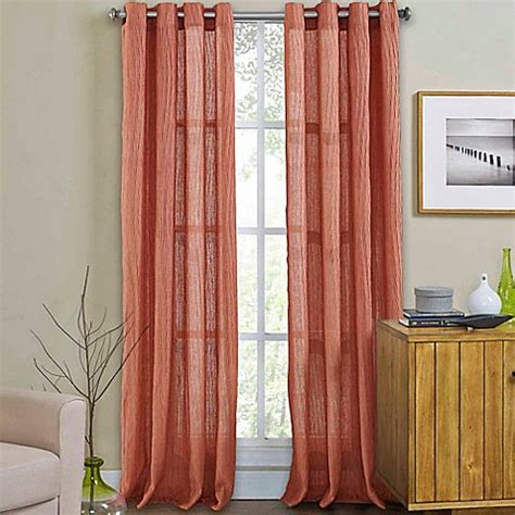 coral curtain panel buy weston 108 inch grommet top window curtain panel in