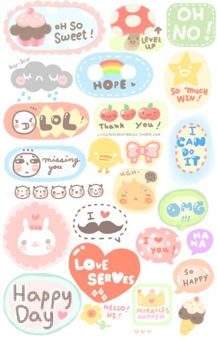 printable stickers kawaii little miss paint brush free printable stickers sticker