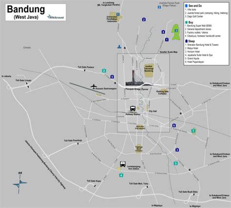 map of bandung city bandung wikitravel