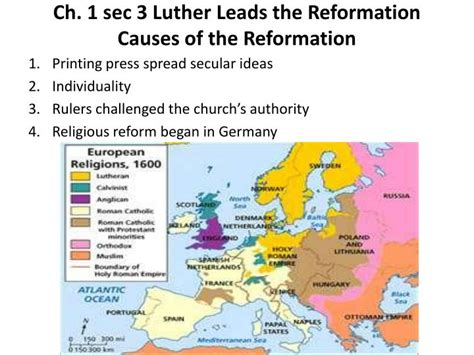 the reformation chapter ppt download ppt ch 1 sec 3 luther leads the reformation causes of the reformation powerpoint presentation