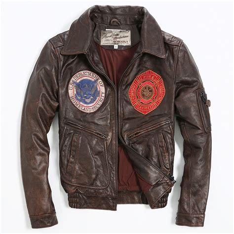 Vintage Jacket Bomber Jaket avirex fly vintage badge leather bomber jacket pattern
