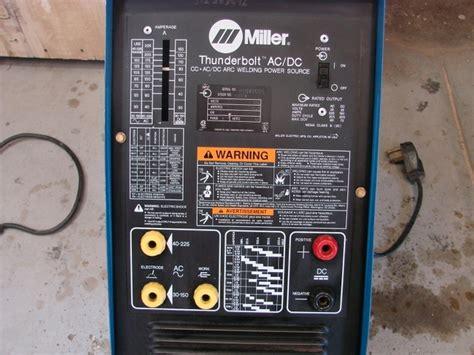 Miller Thunderbolt AC/DC Welder rarely used Rod & Access.   Nex Tech Classifieds