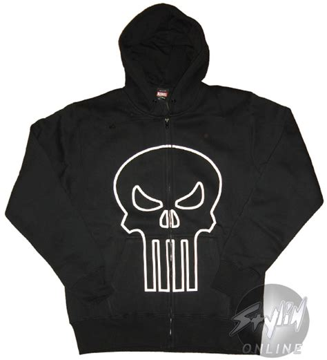 Hoodie Punisher punisher outline logo hoodie