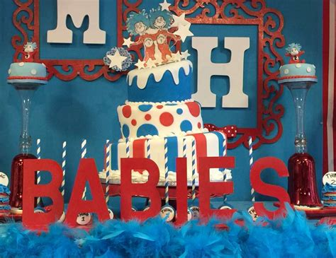 Thing 1 Thing 2 Baby Shower Supplies by Dr Seuss Baby Shower Quot Thing 1 Thing 2 Welcome