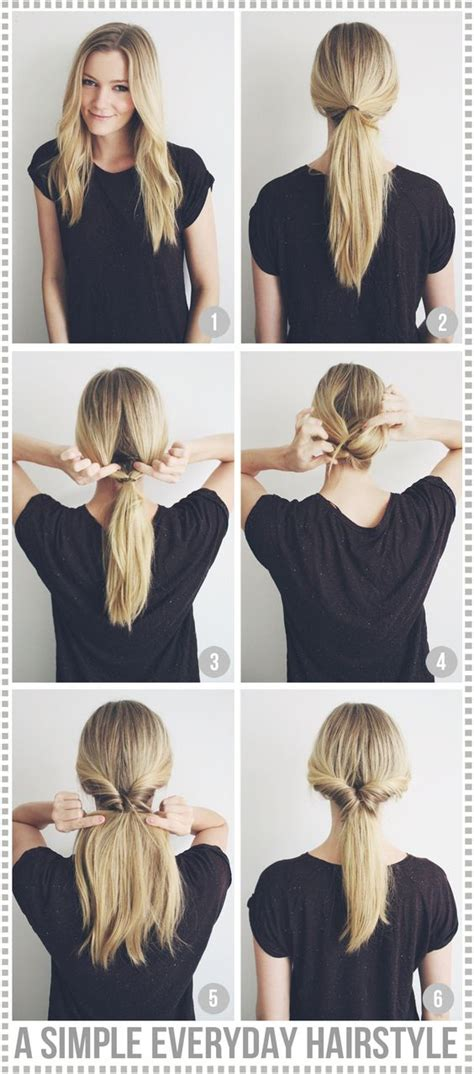 easy everyday hairstyles with ponytails a simple everyday hairstyle passions for fashion nice