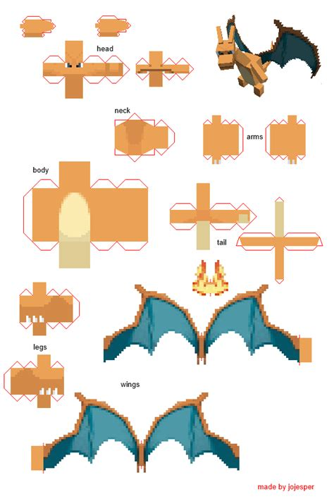 3d To Papercraft - papercraft charizard pokecube