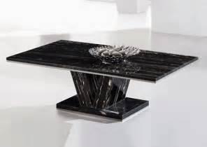 Black Marble Coffee Tables Hera Black Marble V Leg Coffee Table