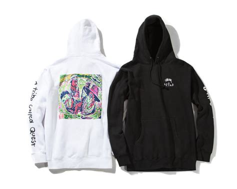 Hoodie Stussy New Yorkleadermerch a tribe called quest teams with stussy for collaboration collection complex