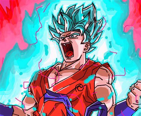 goku ssj blue kaioken  desenho de mindsplinter gartic