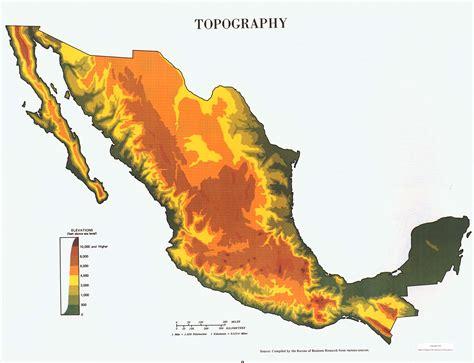 mexico topographic map topographic map mexico hydrology
