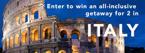 Italy Sweepstakes - sweepstakeslovers daily popsugar harlequin htons lane more