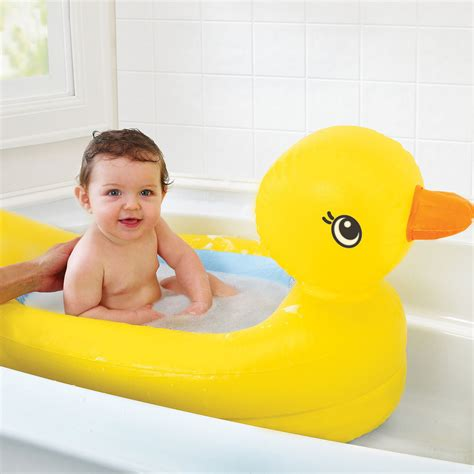 baby bathtub safety munchkin inflatable white safety baby duck bath travel