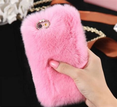 Iphone 6 6s Soft Casing Rabbit Ear Kelinci Stand Cover Bumper luxury pink phone iphone 7 plus for