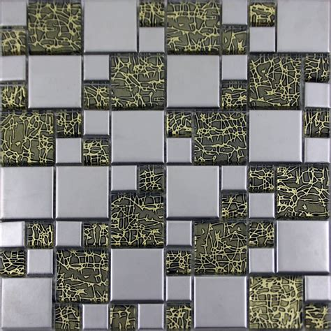 Kitchen Backsplash Glass Tile Designs Silver Porcelain Square Mosaic Tile Designs Glass Tiles Wall Bathroom Plated Ceramic