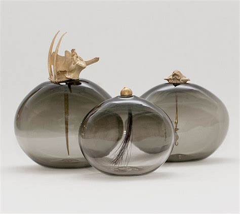 decorative glass vessels curiosity vessels in smoke glass by lindsey adelman