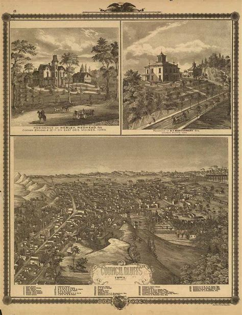 Home Depot Council Bluffs by Iagenweb Pottawattamie Co Iowa Map 1875 View Of