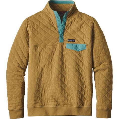 patagonia cotton quilt snap t fleece pullover s