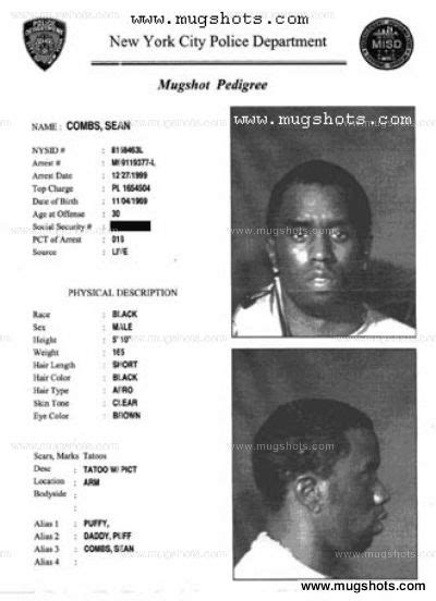 P Diddy Criminal Record Combs Combs Becomes P Diddy In The Of His Arrest On Gun And