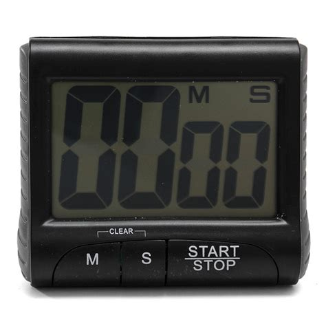 Kitchen Timer With Alarm by Lcd Digital Kitchen Timer Count Up Clock Loud Alarm