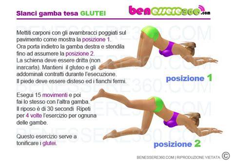 esercizi per tonificare il sedere slanci posteriori a gamba tesa sport esercizi fitness