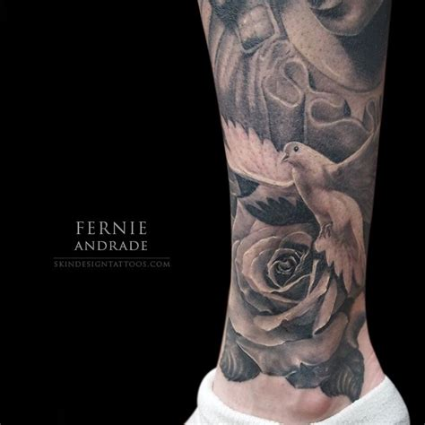 dove and rose tattoos 17 best ideas about ankle tattoos on