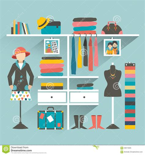 store layout vector clothing store boutique indoor stock vector