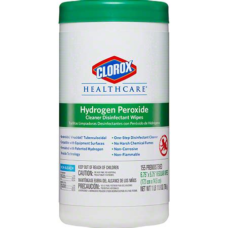 clorox healthcare hydrogen peroxide disinfectant wipe house sanitary supply