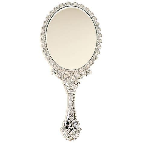 Held Vanity Mirrors by Vintage Style Mini Vanity Held Mirror
