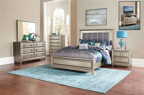 silver bedroom furniture sets reflect a clean and hedy bedroom 1839 in silver tone by homelegance w options