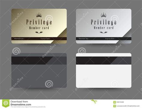 platinum membership card template gold and silver privilege card for member template design