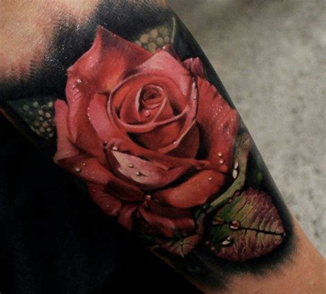 black and red rose tattoo black and tattoos designs