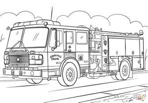 31 Fire Truck Coloring Pages 1507 Via Azcoloringcom Firetruck Color Page