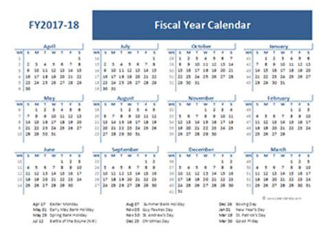 Calendar 2018 Q1 2017 Fiscal Year Calendar Template Printable Free Templates
