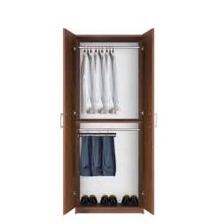 Armoire Hanging Closet Hanging Wardrobe Closet 2 Hang Rods