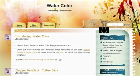 art blogger template free download art blogger template