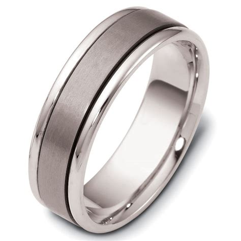 comfort fit titanium wedding bands 111381tg titanium 14kt white gold comfort fit wedding band