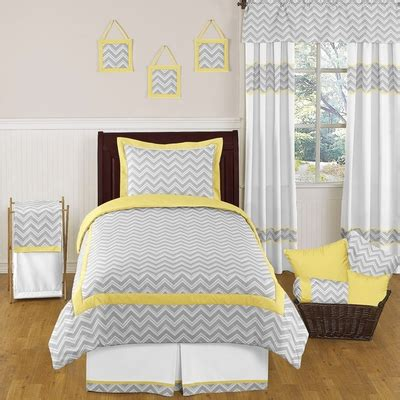 twin gray comforter zig zag yellow and gray 4pc twin comforter set townhouse