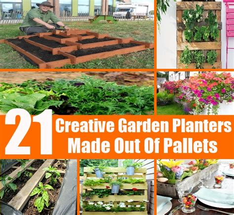 Planters Made Out Of Pallets by 21 Creative Garden Planters Made Out Of Pallets