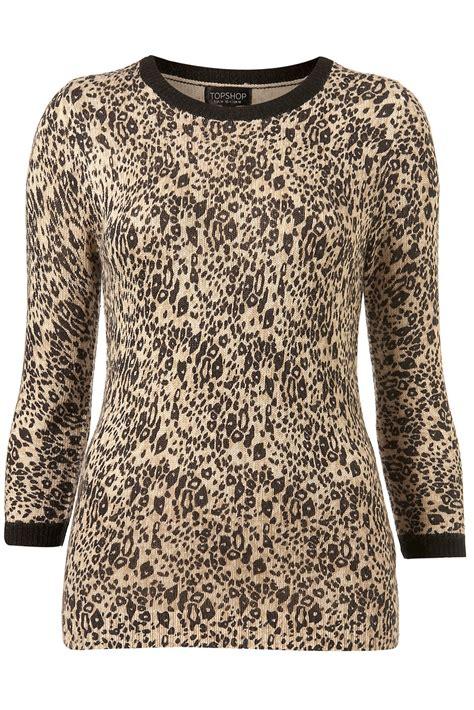 knitting pattern zebra print topshop knitted leopard print jumper in animal animal
