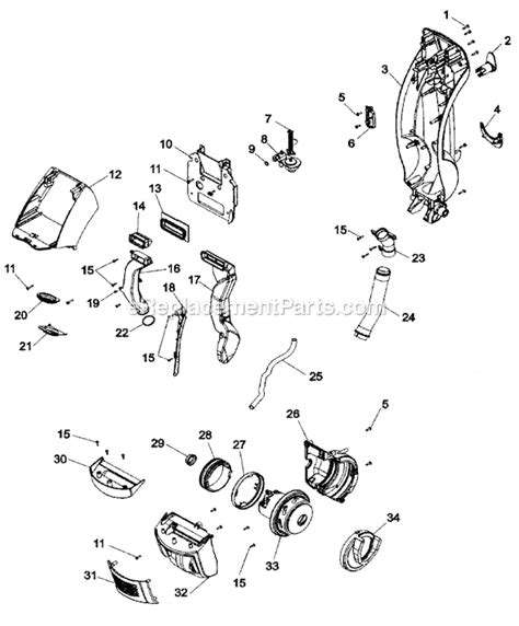 hoover floormate parts diagram hoover h2850 parts list and diagram ereplacementparts
