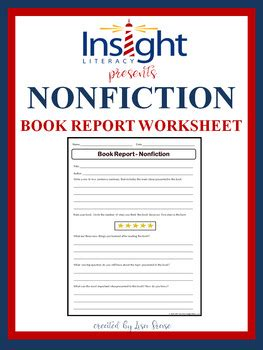 Non Fiction Book Report For Kindergarten by Nonfiction Book Report Worksheet By Frase Tpt