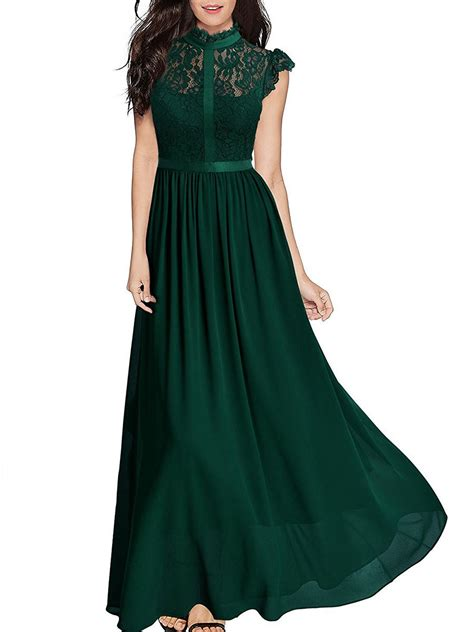 swing chiffon kleid band collar see through plain chiffon swing maxi dress