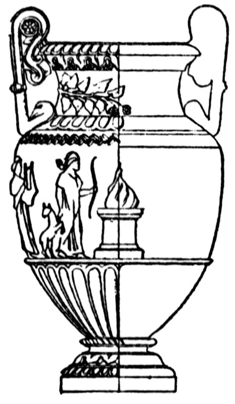 greek vases coloring page greek vase clipart etc
