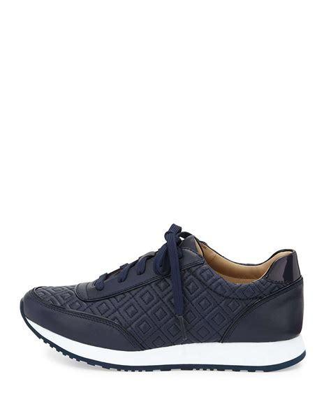 burch sneaker burch clive quilted leather sneaker in blue lyst